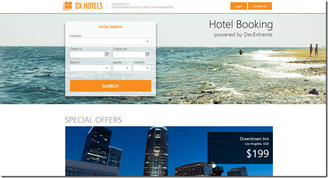 DX Hotels Screen