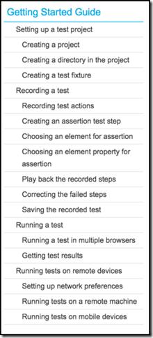 Test Cafe 02 - Tutorial Steps