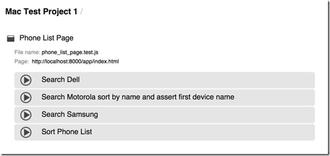 TestCafe 07 - Phone List Tests