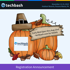 TechBash 2019 Badge Early Bird Ends 8/23